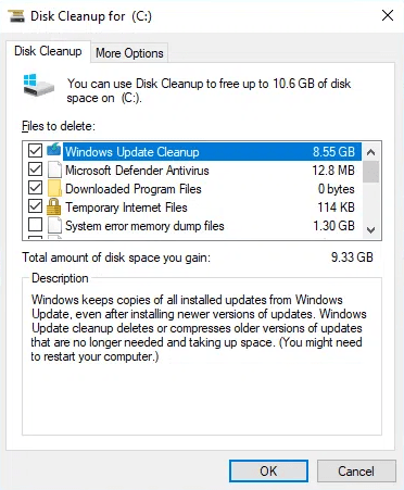 Sử dụng Disk Cleanup